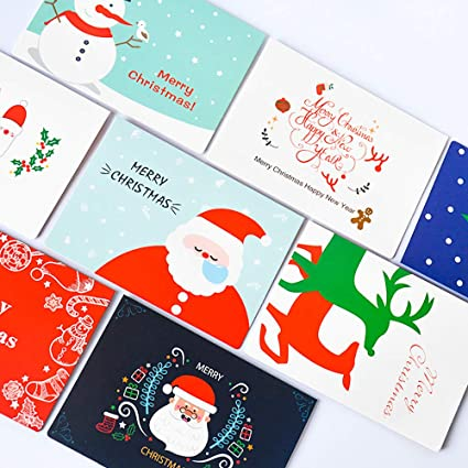 Amazon Com Asertyl 8pcs Handmade Merry Christmas Paper Greeting
