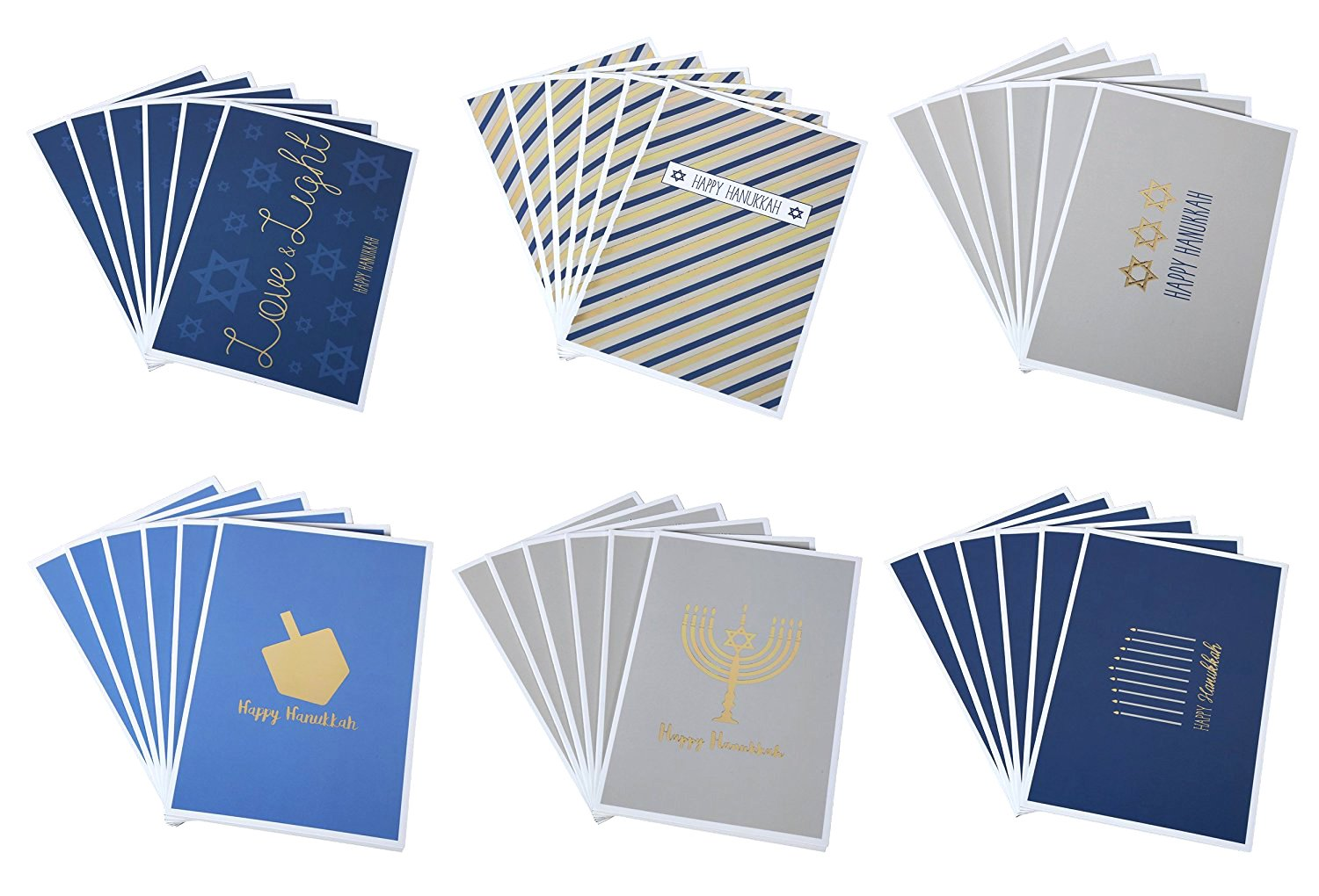 Amazon Hanukkah Greeting Cards Jewish Chanukah Cards 6