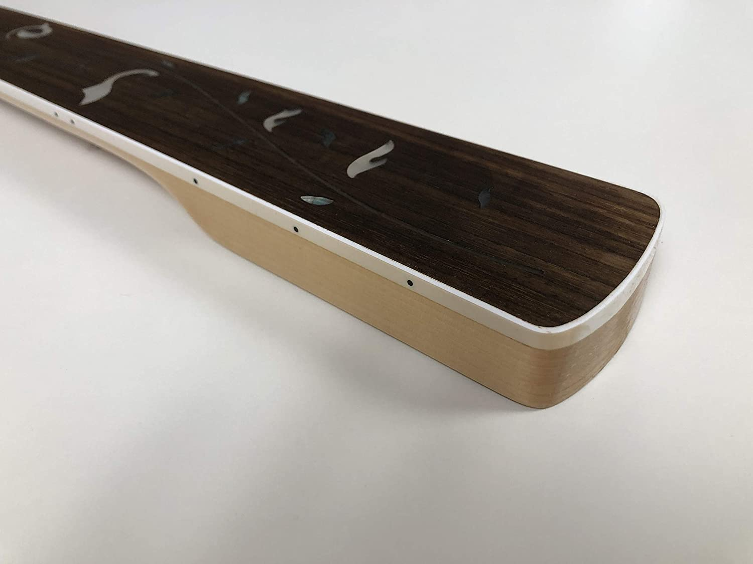 Fretless 4 String Electric Bass guitar neck 20 Fret 34inch Maple Rosewood fingerboard Vine Inlay Gloss