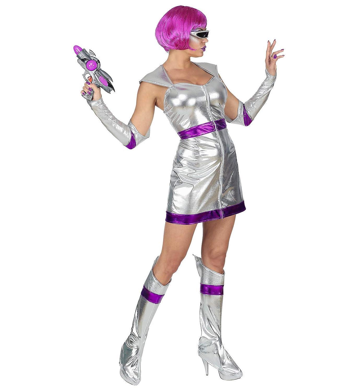 WIDMANN 69492 Adult Space Girl Costume Silver