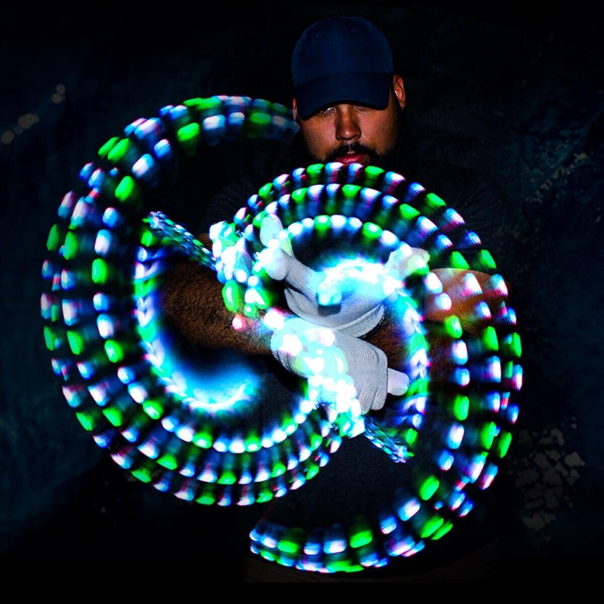 GloFX Gel Glove Set - Light Up Rave EDM 9 Mode LED Gloves by GloFX (Image #1)