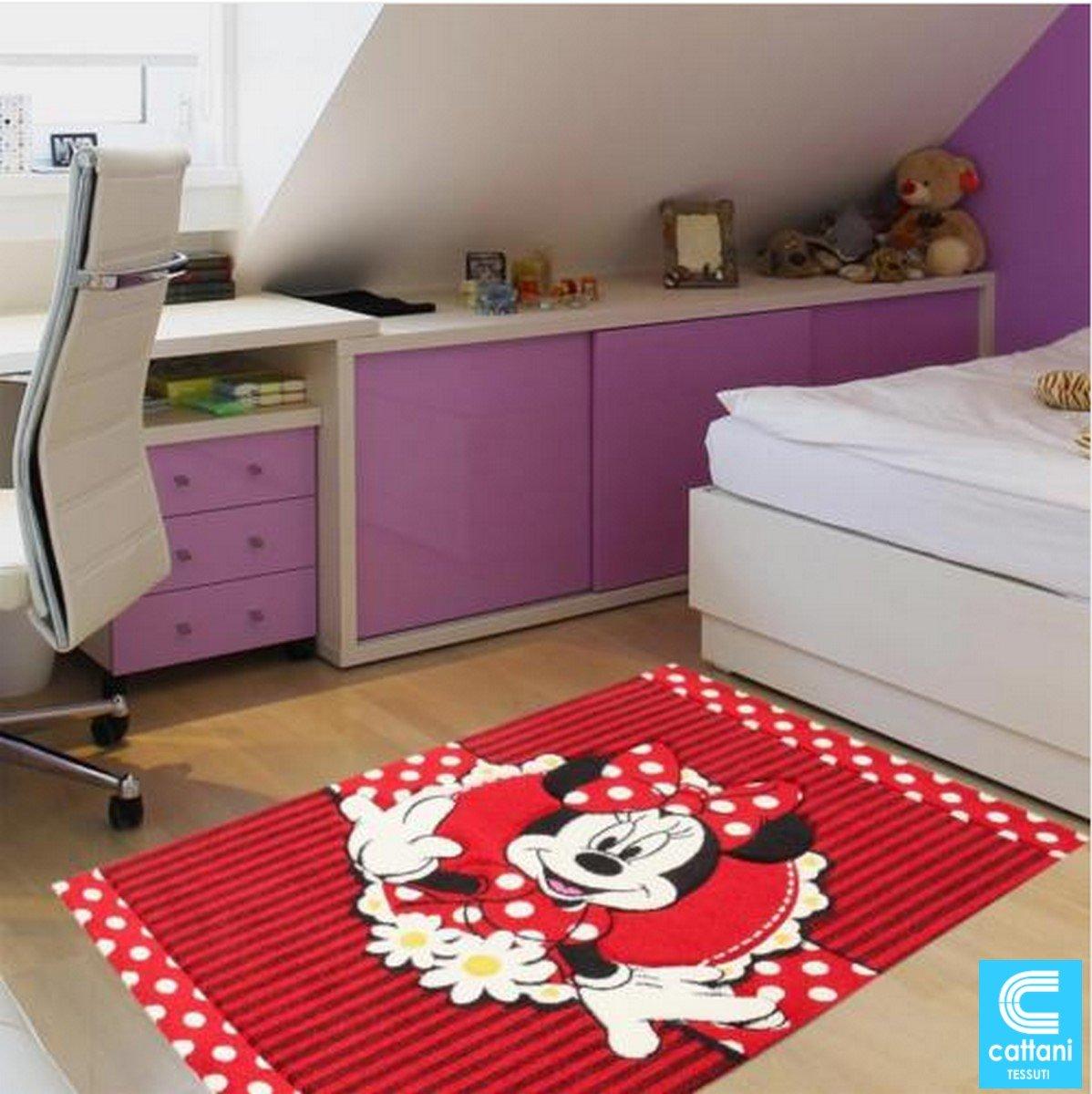 Teppich für Kinder – Disney Minnie Mouse – Größe cm 120 x 170 – Kurzflor 13 mm