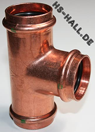 Viega Profipress Gas T-Stück mit SC‑Contur