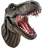 DWK - Jurassic King T-Rex Tyrannosaurus Rex Dinosaur Wall Mounted Head Statue Bust - 15 Inches Long