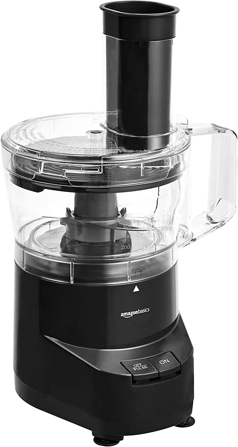 AmazonBasics 4-Cup Food Processor, Black (Renewed)