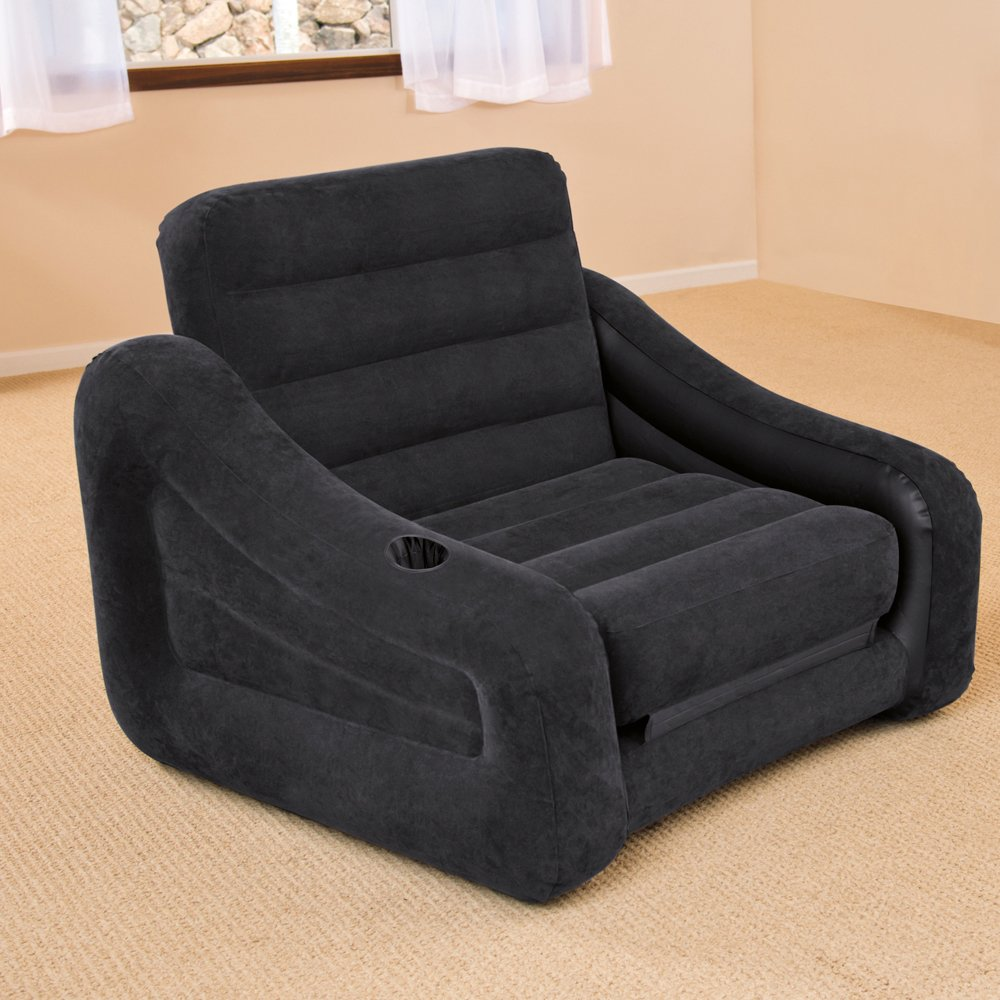 Intex 68565NP - Sillón hinchable cama individual 107 x 221 x 66 cm