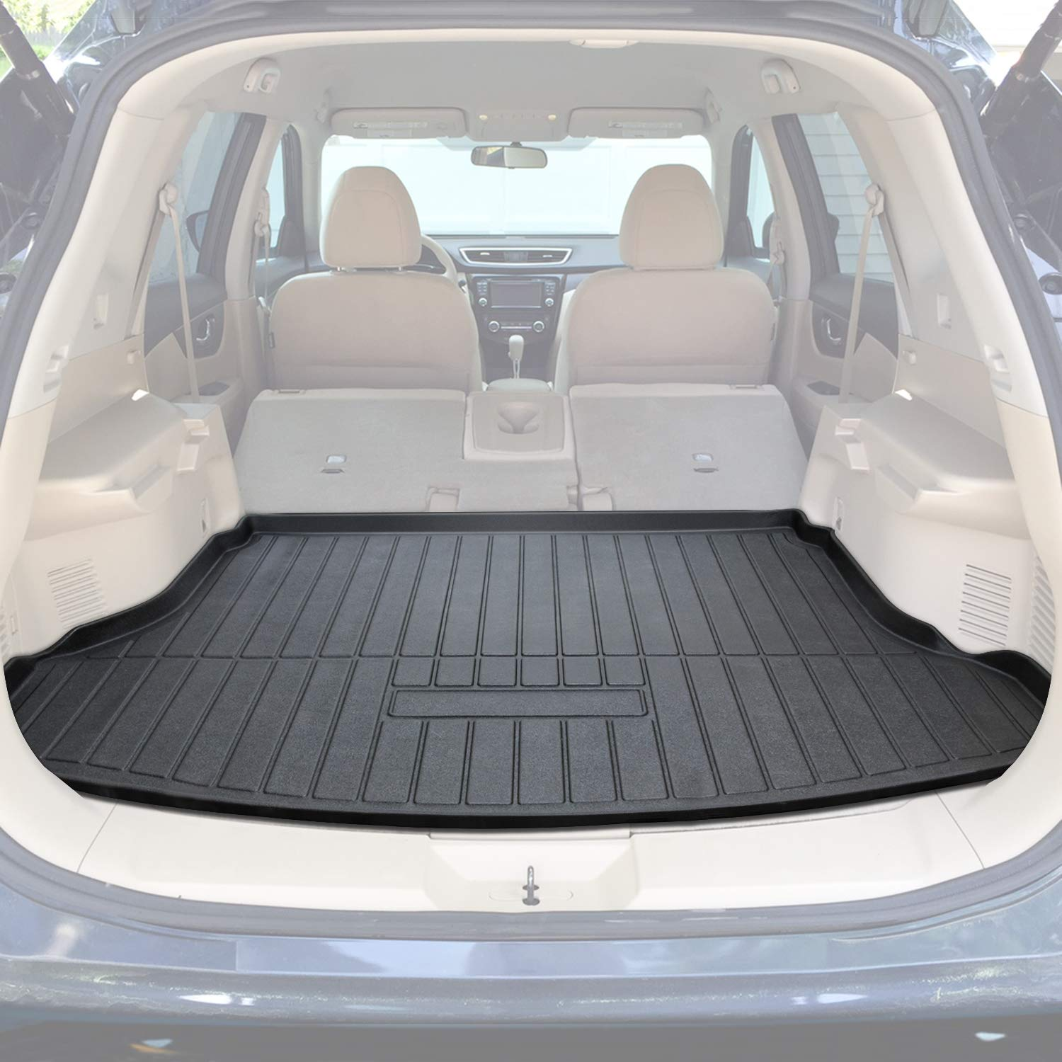 E-cowlboy Cargo Liner Rear Cargo Tray Trunk Floor Mat Protector for Nissan X-trail Rogue SV S SL