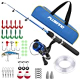 PLUSINNO Kids Fishing Pole,Light and Portable Telescopic Fishing Rod and Reel Combos for Youth ice Fishing