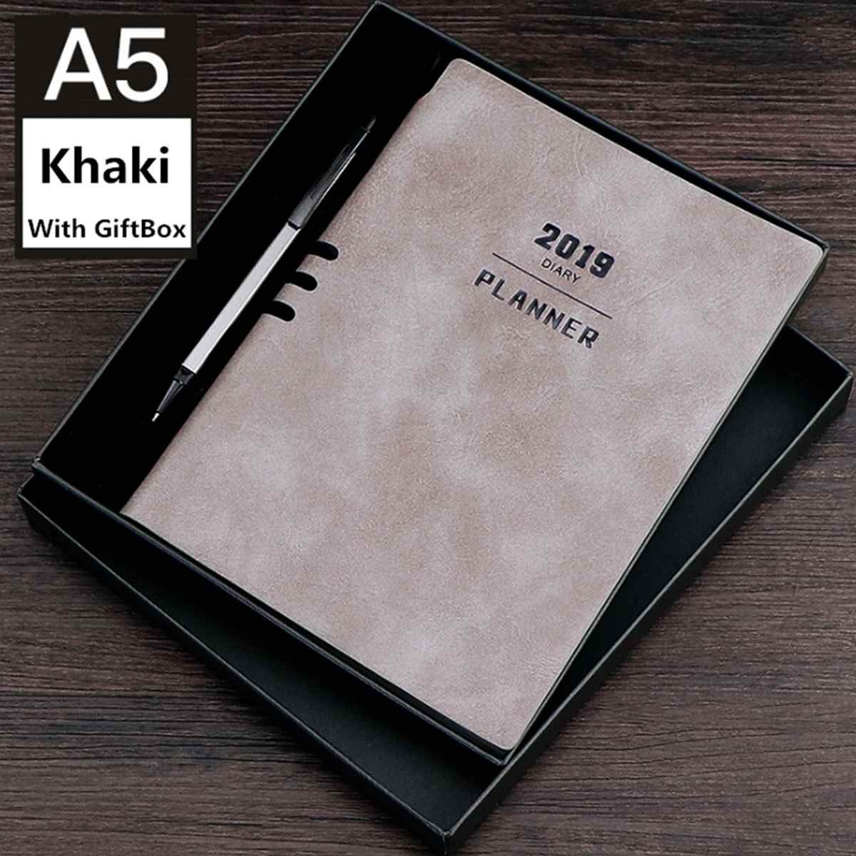 Stationery Notebook 365 Planner Weekly Monthly Daily Diary Planner A5 2019 Notebooks and Journals School Supplies Notebook