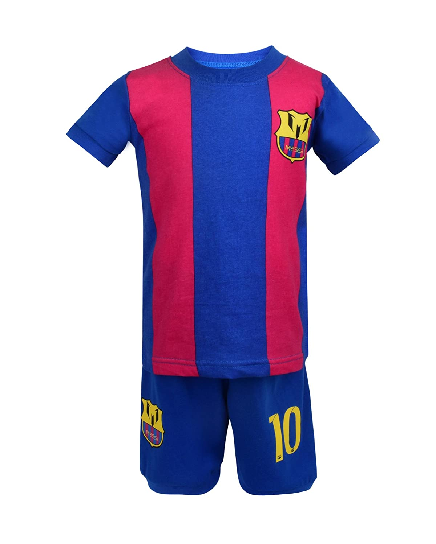 sale retailer 41a6c 9e9f8 Soccer PJs Barcelona Messi 10 Pajama ✓ Barca Messi #10 Soccer t-shirt &  Shorts Kids set 100% Cotton Sport Pyjama Sleepwear Set Jammies✓ Premium ...