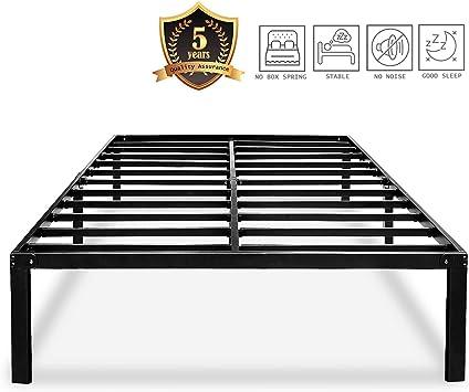 Amazon Com Haageep Heavy Duty King Bed Frame No Box Spring Needed
