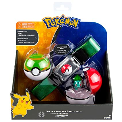 Pokemon Clip n Carry Pokeball Growlithe & Premier Ball Figure Set Zabawki