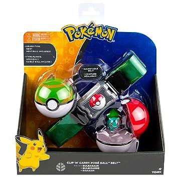 style exquis nouvelles photos détaillant Tomy Pokémon - T18206 - Ceinture de Poké Ball Dresseur Pokémon - Modèle  Aléatoire