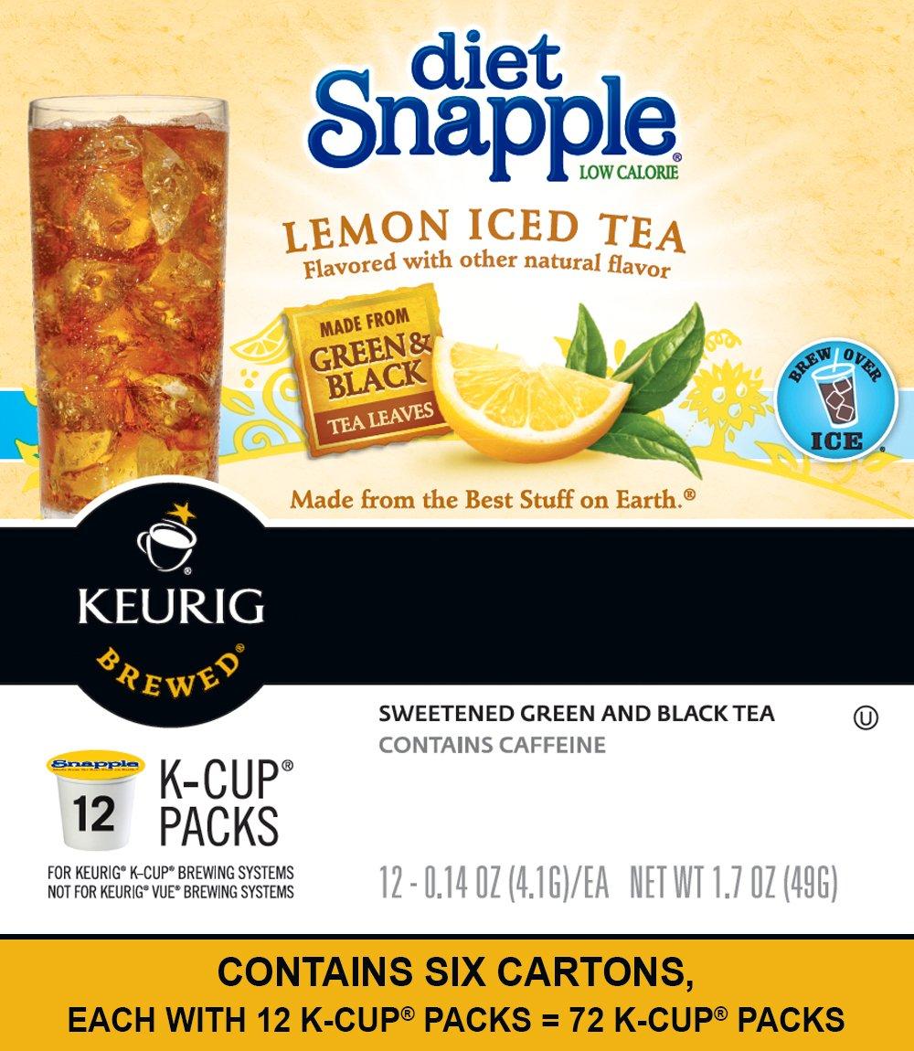 Keurig K Cups Snapple, Diet Lemon Iced Tea , 72 Count by Snapple (Image #3)
