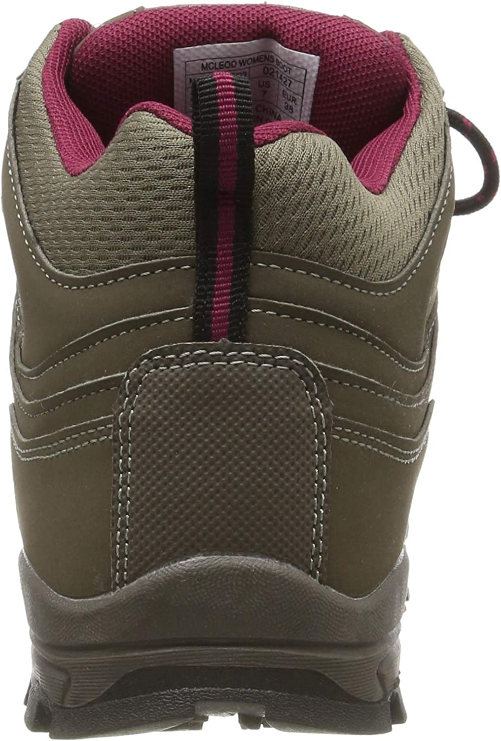 Mountain Warehouse McLeod Womens Comfortable Boots - Breathable Ankle Boots, Durable Hiking Boots, Padded & Lightweight Walking Shoes - Ideal for Trekking & Travelling Brown