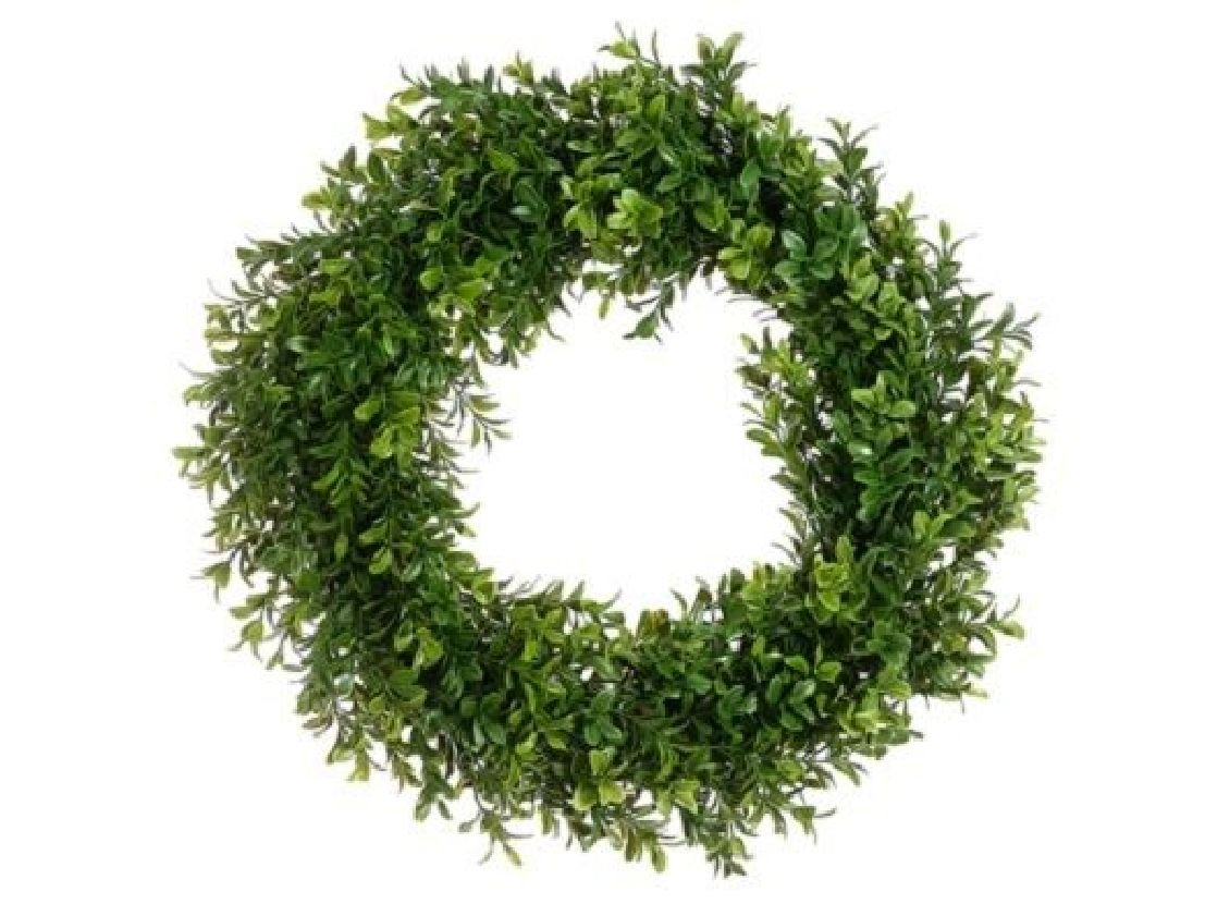 6 Artificial 17'' Boxwood Wreath In Outdoor Grass Hedge Wall Patio Plant Decor by Black Decor Home