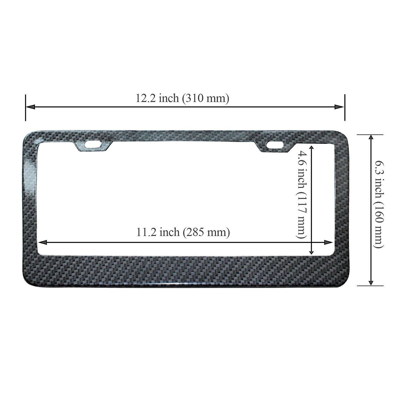 EEEKit Rhinestone License Plate Frame Black 2 Packs Pure Handmade Waterproof License Plate Frame Aluminium Metal Chrome Crystal Diamond Bling License Plate with Screw Caps