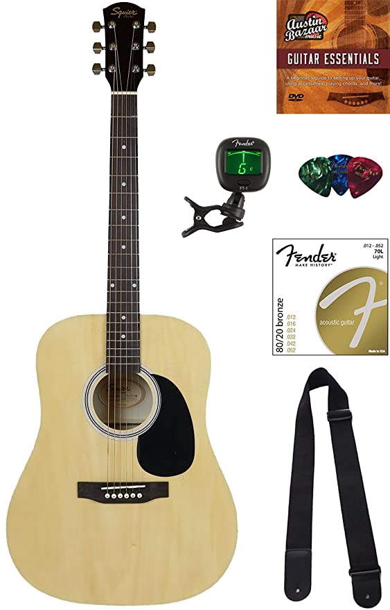 Amazon Squier By Fender Sa 150 Dreadnought Acoustic Guitar