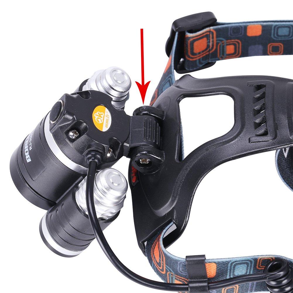 Linterna Frontal 6000Lm T6 LED GHB por solo 24,99€