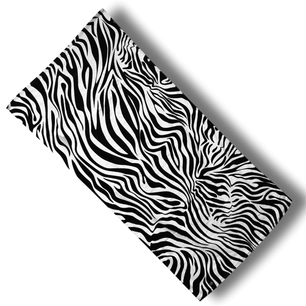 "Custom & Luxurious {30"" x 60"" Inch} 1 Single Large & Thin Soft Summer Beach & Bath Towel Made of Quick-Dry Cotton w/ Sexy Cute Girly Detailed Zebra Animal Pattern Print Wild Style [Black & White]"