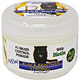 BLACK PANTHER STRONG - VEGAN - Edge and Braid Control POMADE 8 oz. Styling Gel. Great for Curly Hair. Firm Hold for…