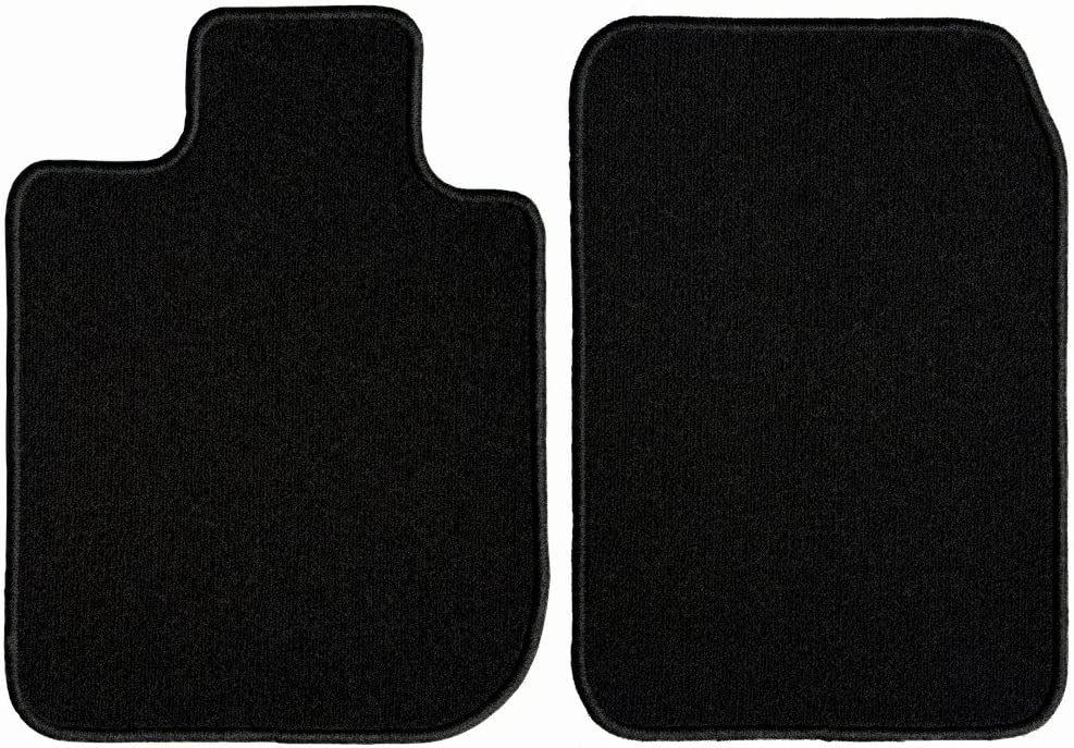 GG Bailey D2825A-F1A-BLK Front Set Custom Fit Floor Mats for Select Cadillac Seville Models Black Nylon Fiber