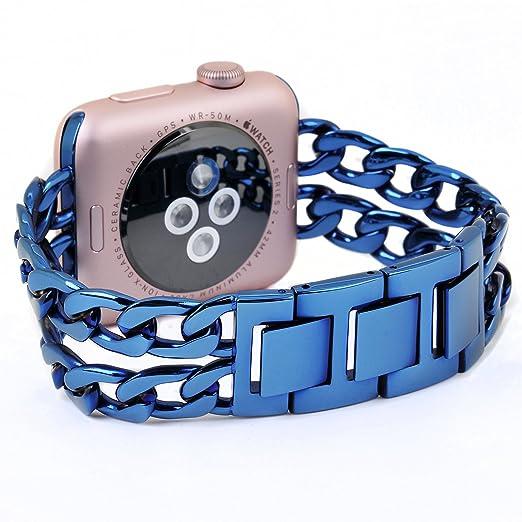 169 opinioni per Cinturino Apple Watch,PUGO TOP Premium in Acciaio Inossidabile del Cowboy Strap