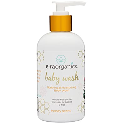 Organic Baby Wash 8oz. Sulfate Free USDA Certified Organic Moisturizing Baby Soap & Shampoo