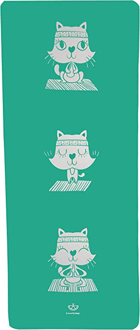 Amazon.com : SweetLime Eco-Friendly Kids Yoga Mat - Cat ...