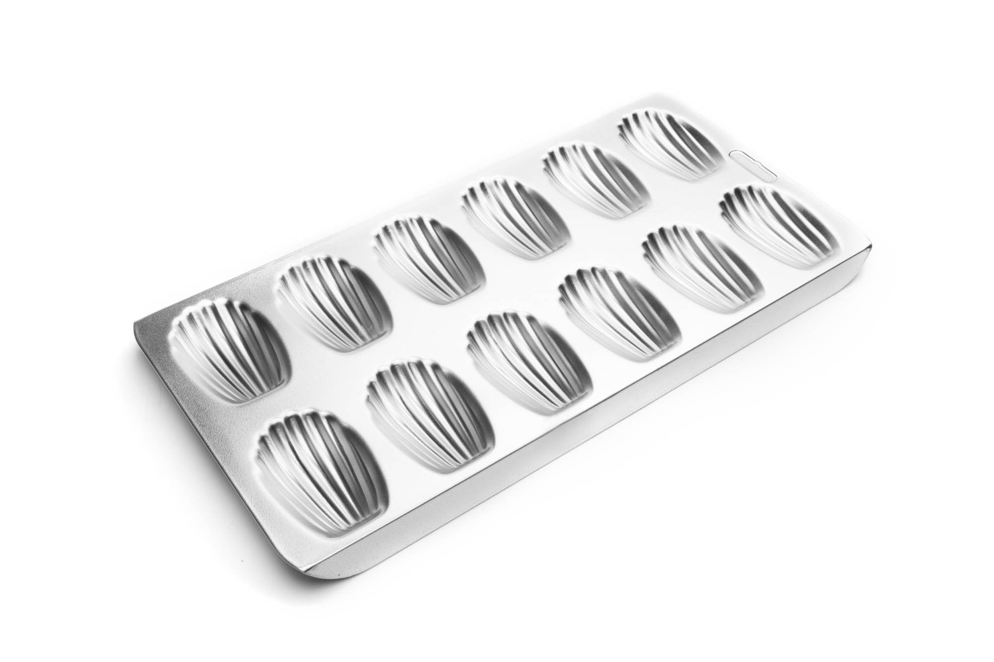 Fox Run 4729 Madeleine Pan, Tin-Plated Steel, 12-Molds