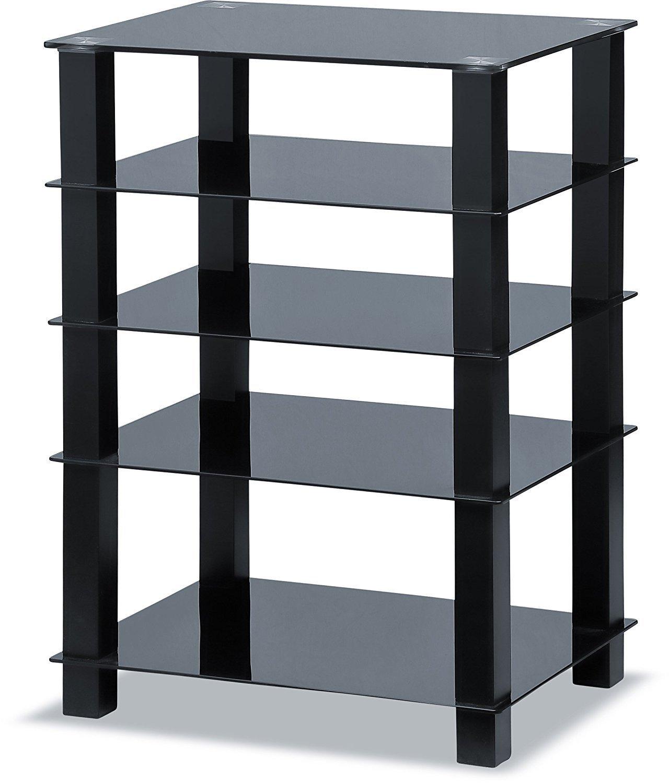 Centurion Supports Trinity 5/estante negro brillante con negro patas de pantalla plana TV accesorio de cristal soporte