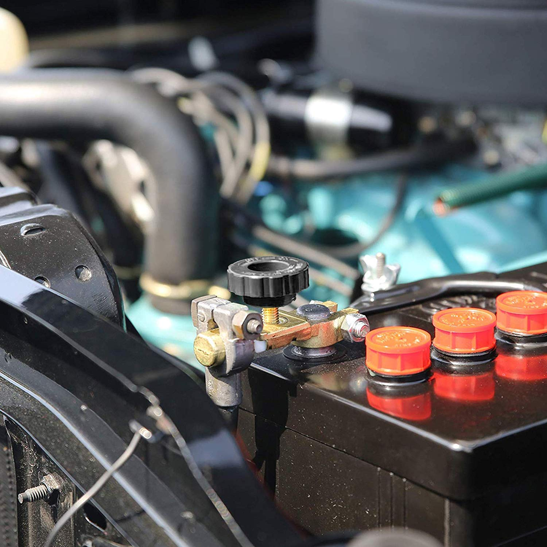 LotFancy Interruptor de Aislador de Bater/ía Bote Cami/ón Poste Superior Desconexi/ón de Bater/ía 12V 24V para Coche RVs Veh/ículos ATV 125//500 Amperios