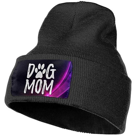 97beda22054 Splash Brothers Customized Dog Mom Beanie Winter Warm Knitting Hats Skull  Cap for Men Women Black