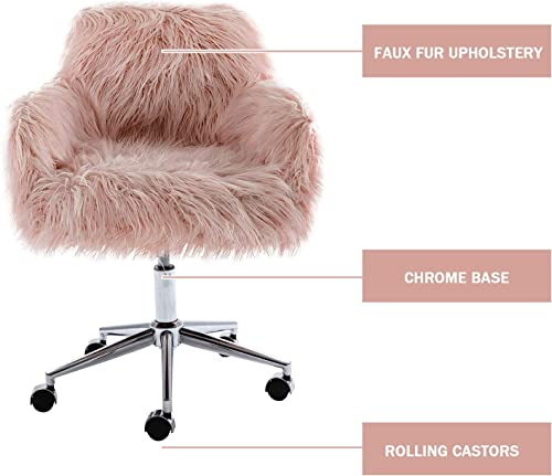 Goujxcy Fluffy Desk Chair