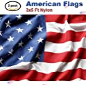 2-Pk 3x5-Foot Nylon US Flags