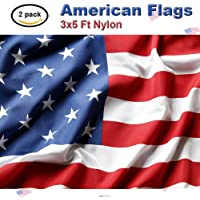 2-Pack 3x5-Foot Nylon US Flags