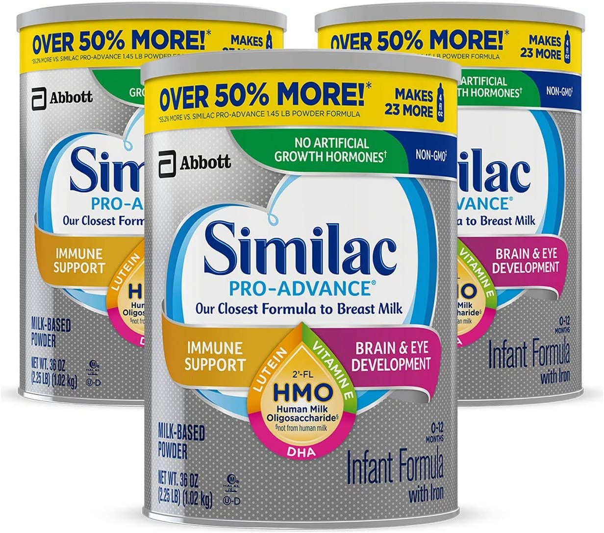 Similac Pro-Advance Non-GMO Infant Formula with Iron, with 2'-FL HMO, for Immune...