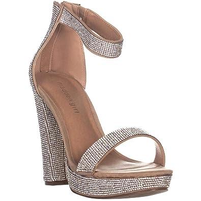 928b9f3b251 Amazon.com | Madden Girl Women's Siren Heeled Sandal, Blush Multi ...