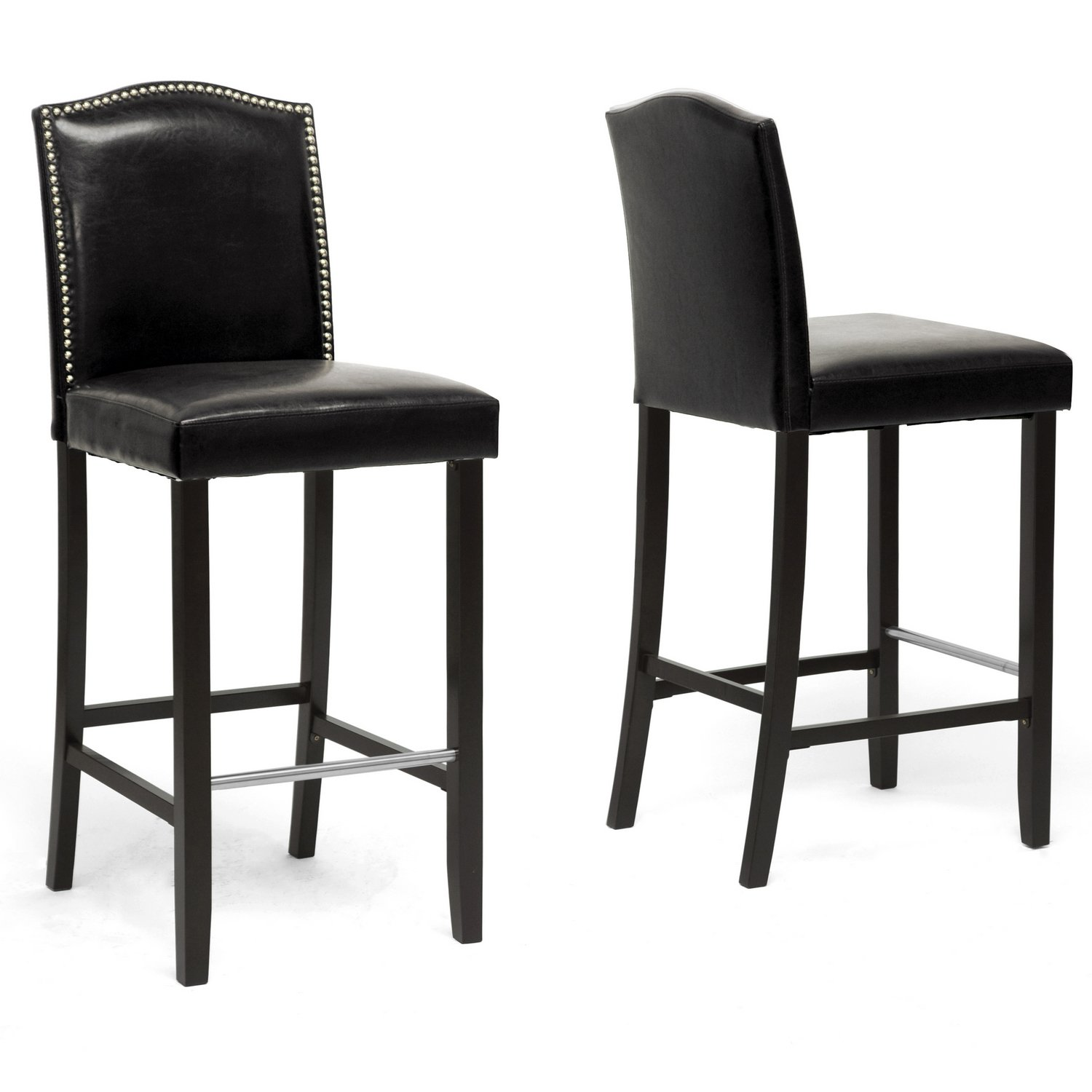 Amazon.com Baxton Studio Libra Modern Bar Stool with Nail Head Trim White Set of 2 Kitchen u0026 Dining  sc 1 st  Amazon.com & Amazon.com: Baxton Studio Libra Modern Bar Stool with Nail Head ... islam-shia.org