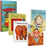 I am a bunny 我是一只兔子 Dear Zoo 亲爱的动物园 Brown Bear, Brown Bear, What Do You See?棕色的熊,你在看什么 my dad my mum我爸爸我妈妈 5册 英文原版绘本廖彩杏书单 纸板书