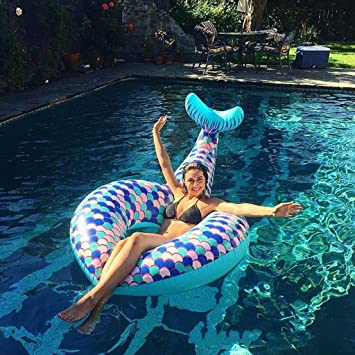 Piscina Inflable flotador Gigante Sirena Cola Flotador Inflable ...
