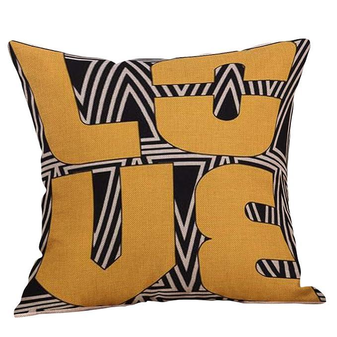 Amazon.com: Wokasun.JJ Funda de almohada con estampado ...