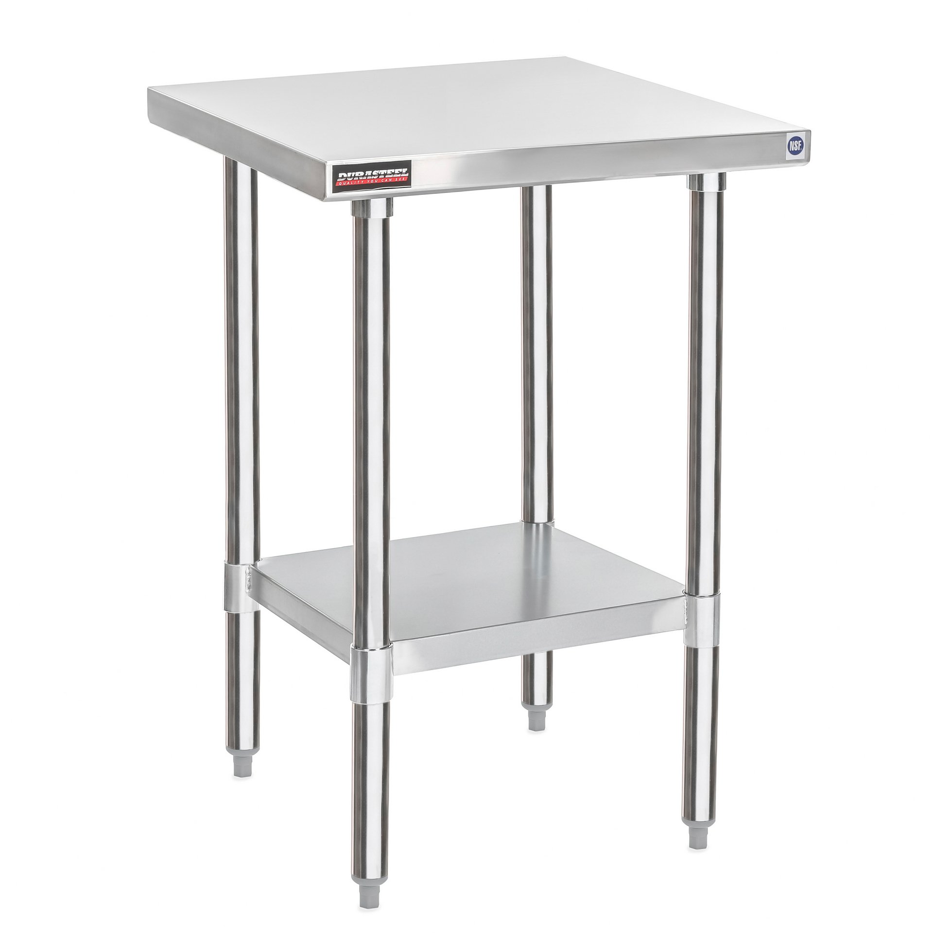 """DuraSteel Stainless Steel Worktable Food Prep 24''X24''X34""""Height - Commercial Grade Worktable - Fits for use in Restaurant, Business, Warehouse, Home, Kitchen, Garage"""