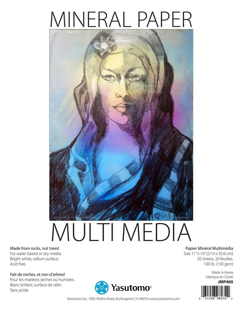 Yasutomo Mineral Paper Multi-Media Artists Pad, 11 X 14 inches, 20 Sheets (JMP400) 4336880394