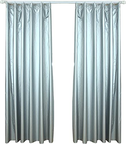 lieomo 1 Pair Solar Reflective Coated, Blackout Thermal Curtain Lining,Includes 40 Curtain Hooks 66.9 170cm Wide x 78.7 200cm