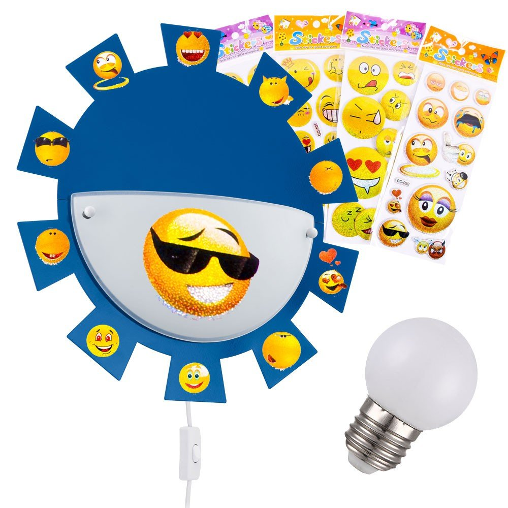 Wand Kinder Zimmer Leuchte Sonnen Lampe im Set inklusive LED ...