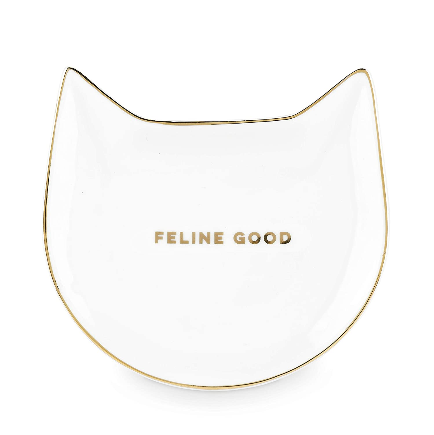 Pinky Up 5496 Feline Good White Cat Tea Tray,