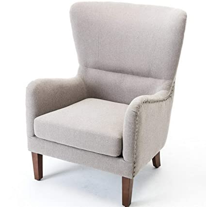 Amazon.com: Hebel Mid-Century Accent Wingback Chair Curved High Back ...