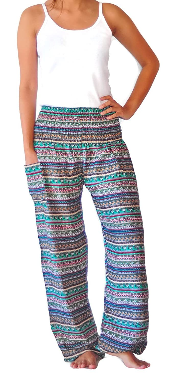 Ahh pants Women's Comfy Boho Clothing/Harem Pants Print Rayon Fabric well-wreapped