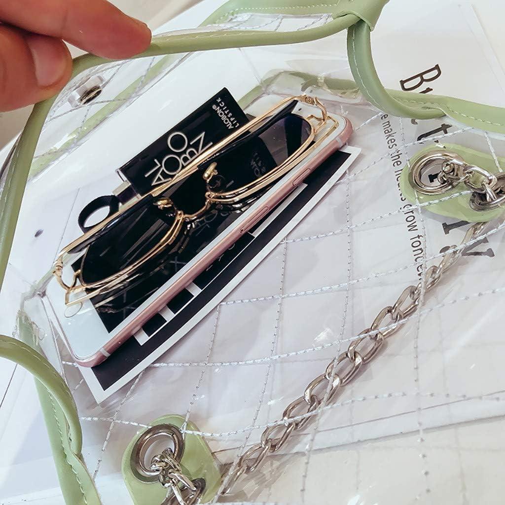 DWLXSH Transparent Messenger Bag, Frauen Mode Strand Transparente Jelly Telefon-Pack-Kette Umhängetasche Schultertasche Kleine (Color : Black) Black